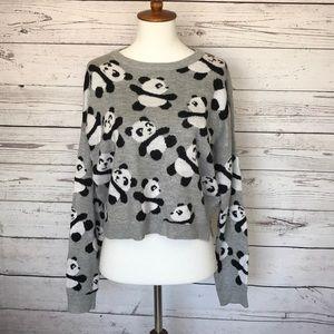 Cotton On Grey Panda Sweater Size Medium